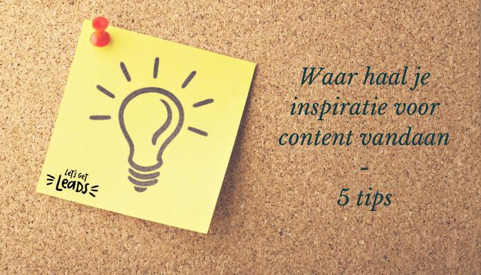 Waar haal je inspiratie voor content vandaan – 5 tips